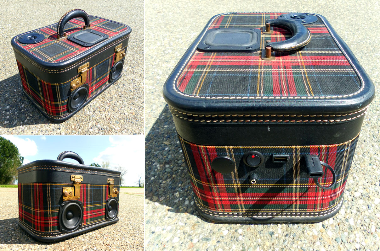 50 Watt Plaid Train Case with Subwoofer